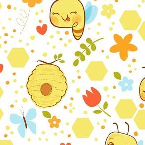 Bee Happy - Larger Print