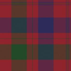 Isabella (MacTavish) Fraser Wedding tartan, original size, muted