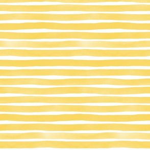 Watercolor Stripes M+M Yolk by Friztin