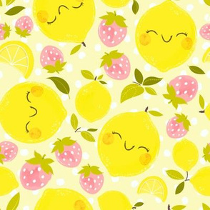 Strawberry Lemon Pattern- Larger Print