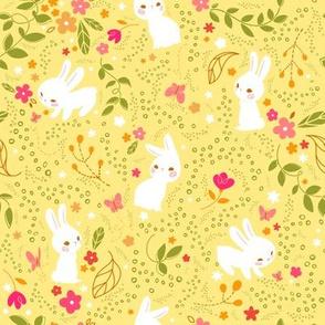 Spring Bunnies- Larger Print