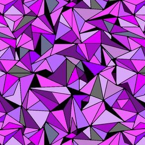 Amethyst Purple Triangles