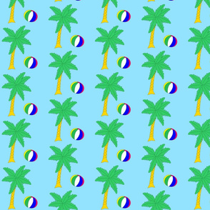 Palmtree With Beach Ball