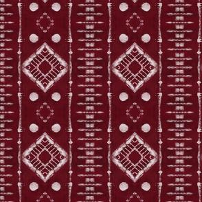 Faux Shibori Ladders Pattern in red