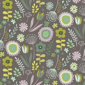 Meadow - Springtime grey