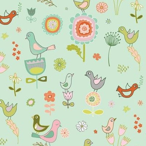 Birds in Spring - sky
