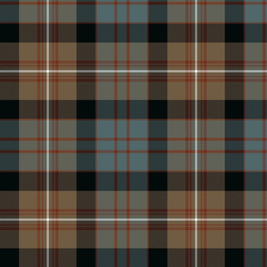 MacDonell of Glengarry tartan #2, weathered 10""