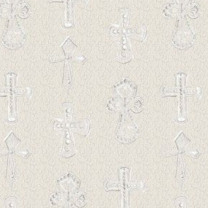 Chalk  Cross Christian Christianity Religion Relic White Chalk Beige Neutral_Miss Chiff Design