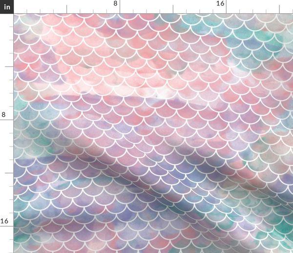0ab5f7cc467 Watercolor Mermaid Scales - Spoonflower