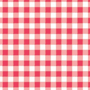 Tiny Buffalo Check Gingham Plaid in Watermelon