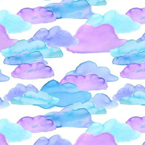 Watercolor Clouds (white)