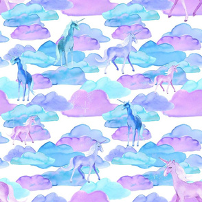 Unicorns and Clouds (Large)