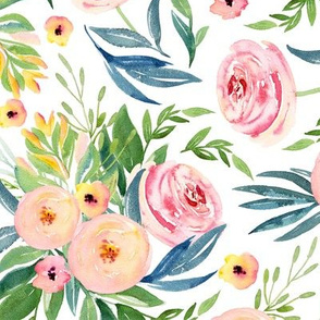 patterns of  peach flowers