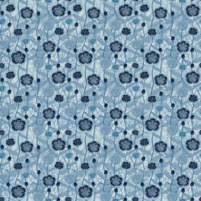 Magic Flowers - blue Jeans