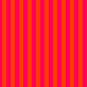 Neon Orange and Pink Vertical Stripes