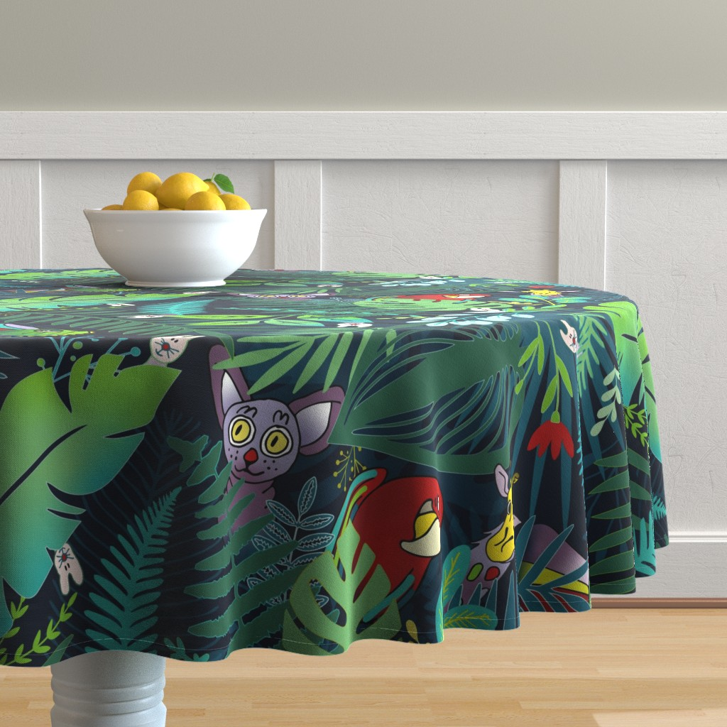 Malay Round Tablecloth featuring desert_#04_u6 by colorofmagic