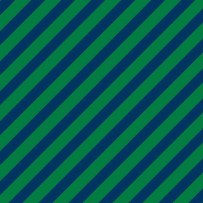 green and navy stripes fabric