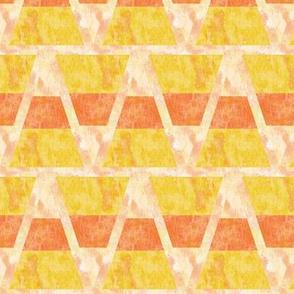 Halloween Candy Corn Triangles Yellow and Orange