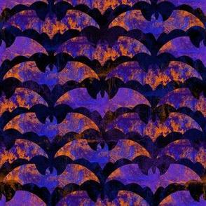 Purple and Orange Halloween Bats