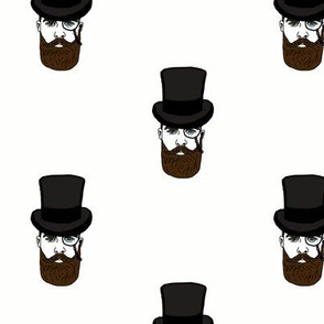 Steampunk Top Hat Man with Monocle