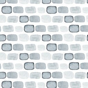 Gray Grey Block Spots Dots Abstract stone watercolor wall on white paint _ Miss Chiff Designs