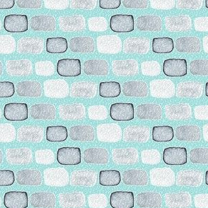 Abstract Watercolor || Modern Texture Gray Grey Stone Spots Dots Watercolour on Aqua Blue_Miss Chiff Designs