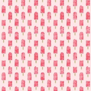 (micro print) watercolor popsicle - pink on pink