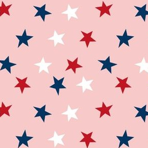 stars usa merica america fabric red white and blue  pink