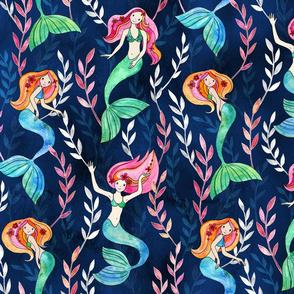 Merry Mermaids in Watercolor