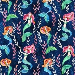 Little Merry Mermaids in Watercolor
