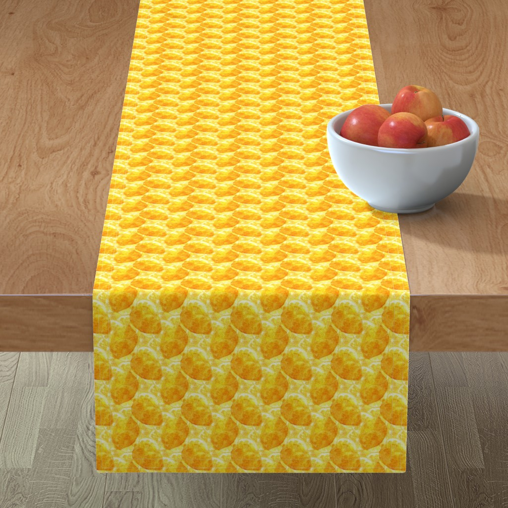 Minorca Table Runner featuring Lemon background by julia_faranchuk