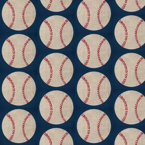 baseball vintage navy - Large 468