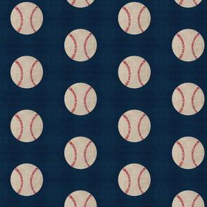 baseball vintage navy - Large 467