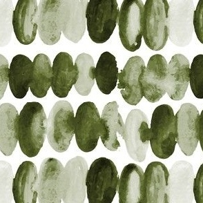 17-13H Olive Green Watercolor Abstract Oval Circle _Miss Chiff Designs