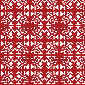 AZTEC ABSTRACT Red