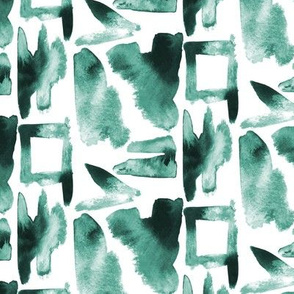 17-13E Watercolor Abstract Dabs Green Forrest_Miss Chiffdesigns