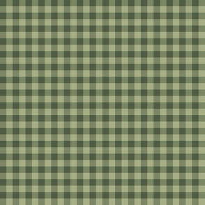 Bayeux gingham - olive green