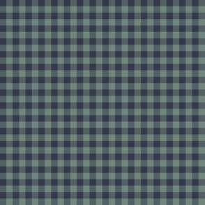 Bayeux gingham - navy and slate