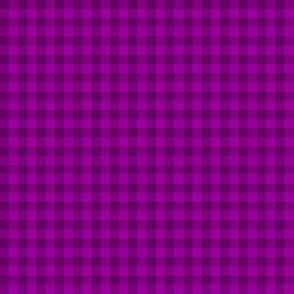 Bright plum purple/fuchsia gingham