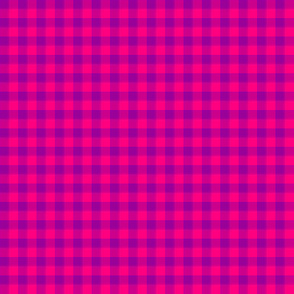bright fuchsia and hot pink gingham