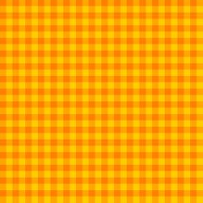 Bright yellow and orange gingham