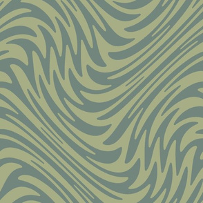 Bayeux feather swirl - sage green