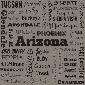 Arizona cities, dark gray