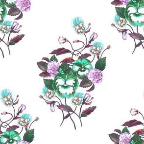 Pansy Turquoise Green_Lilac_Aqua_White
