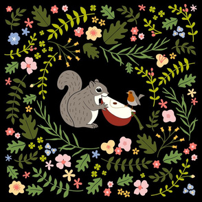 Squirrel and Robin: BgBlack