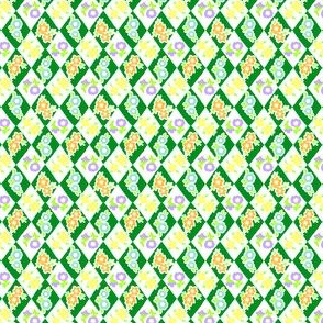 Flower and Rhombus Green