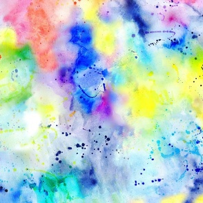 Watercolour #1 - Rainbow Wash