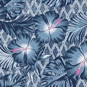 Denim Hawaiian Floral