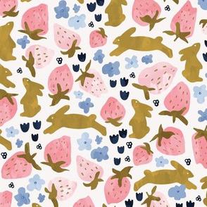 Bunnies and Berries watercolor