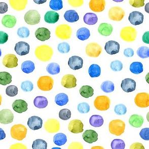 Multicolor watercolor circles